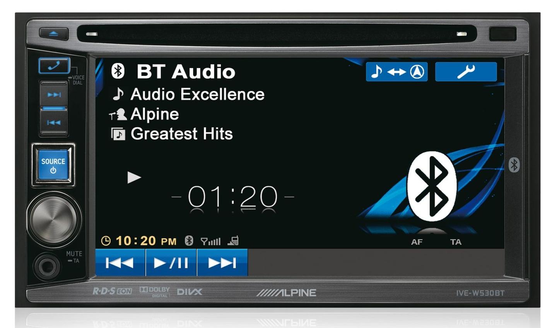 Alpine ive-w530e - mobile media станция 2 din, 4 х 50 вт, 3 пары лин выходов